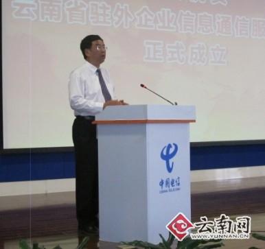 中国电信云南公司总经理赵俊达发表讲话-云南省驻外企业信息通信服