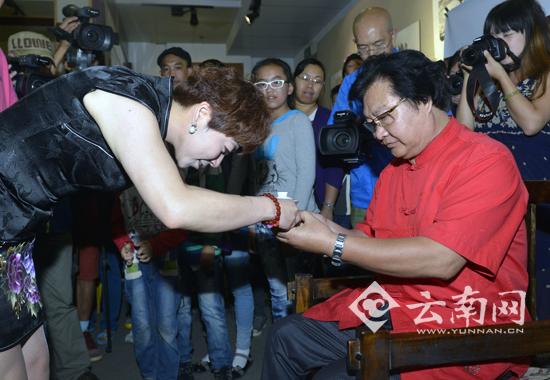 著名旅滇国画家胡祝三收徒拜师仪式在昆举行