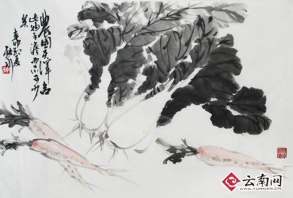 中国写意花鸟画家虎勇 隐于闹市,承袭笔墨