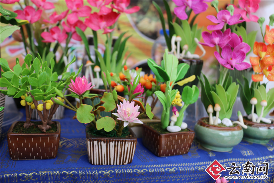 泰国手工橡皮泥花