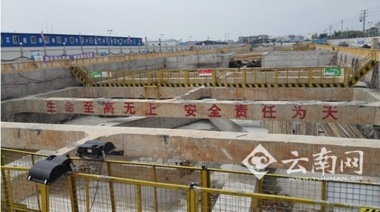 昆明地铁2号线二期两车站率先实现主体结构封顶