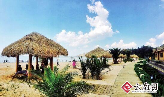 晋宁沙滩公园_晋宁南滇池国家湿地公园内的渠东沙滩被誉为昆明的\