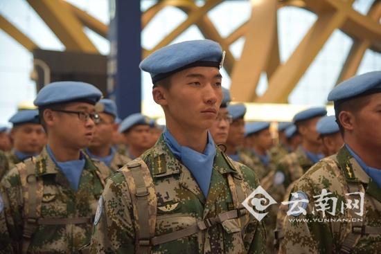 中国第16批赴黎巴嫩维和部队第一梯队昆明出征