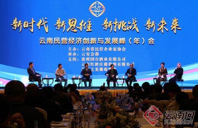 云南民营经济创新与发展峰会娱乐在昆明举行